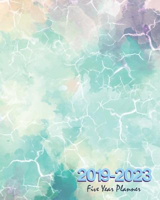 """2019-2023 Five Year Planner: Marble Cover, 60 Months Calendar Planner Agenda with Holidays 8"""" X 10"""" - Stallworth, Joni"""