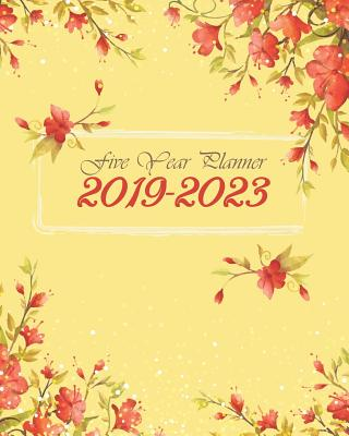 """2019-2023 Five Year Planner: Watercolor Floral Cover 60 Months Calendar Planner Agenda And Organizer 8"""" x 10"""" with holidays - Stallworth, Joni"""