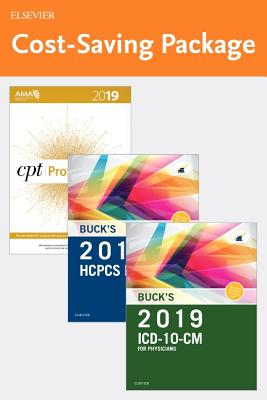 2019 ICD-10-CM Physician Edition, 2019 HCPCS Professional Edition and AMA 2019 CPT Professional Edition Package - Buck, Carol J
