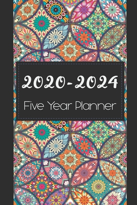 2020-2024 Five Year Planner: Colorful Mandala Cover, Monthly Schedule Organizer, 60 Month Calendar Planner Agenda with Holidays Pocket Size - Stallworth, Joni