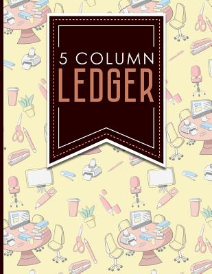 5 Column Ledger: Ledger Book, Accounting Ledger Paper, Financial Ledger For Kids, 8.5 x 11, 100 pages - Publishing, Moito