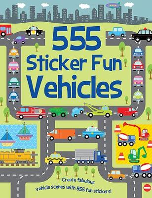 555 Sticker Fun Vehicles - Mayes, Susan