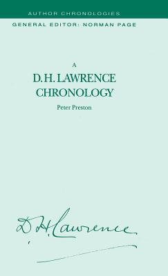 A D.H.Lawrence Chronology - Preston, Peter