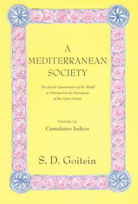 A Mediterranean Society: The Jewish Communities of the Arab World as Portrayed in the Documents of the Cairo Geniza, Vol. VI: Cumulative Indices - Goitein, S D, and Sanders, Paula (Contributions by)