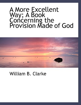 A More Excellent Way; A Book Concerning the Provision Made of God - Clarke, William B