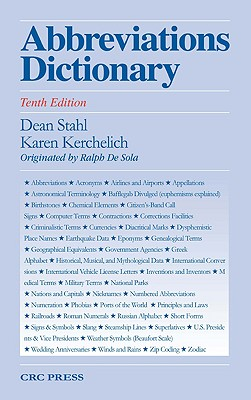 Abbreviations Dictionary - Stahl, Dean A