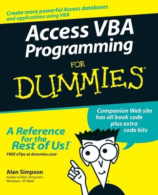 Access VBA Programming for Dummies - Simpson, Alan