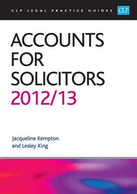 Accounts for Solicitors 2012/2013 - King, Lesley, and Kempton, Jacqui