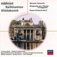 Addinsell: Warsaw Concerto; Rachmaninov: Rhapsody on a Theme of Paganini; Shostakovich: Piano Concerto No. 2 - Cristina Ortiz (piano); Vladimir Ashkenazy (piano)