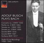 Adolf Busch Plays Bach