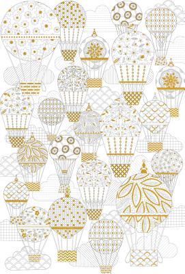 Adult Coloring Poster - Hot Air Balloons - Peter Pauper Press, Inc (Creator)