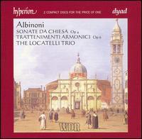 Albinoni: Sonate Da Chiesa Op. 4; Trattenimenti Armonici Op. 6 - Elizabeth Wallfisch (violin); Locatelli Trio; Paul Nicholson (organ); Paul Nicholson (harpsichord); Richard Tunnicliffe (cello)