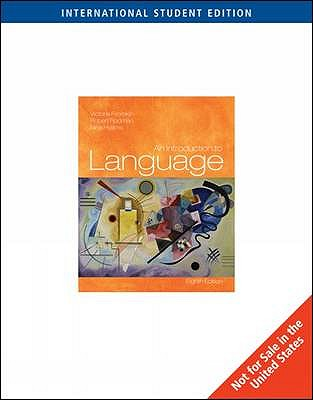 An introduction to language book by victoria fromkin 19 available an introduction to language book by victoria fromkin 19 available editions alibris books fandeluxe Choice Image