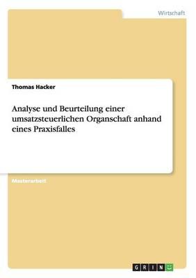 Analyse Und Beurteilung Einer Umsatzsteu - Hacker, Thomas