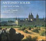 Antonio Soler: Obra vocal en latin