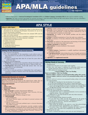 APA/MLA Guidelines - BarCharts Inc