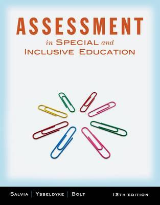 Assessment: In Special and Inclusive Education - Salvia, John