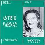 Astrid Varnay: Recital - München, 1954-1961