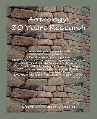 Astrology: 30 Years Research - Doane, Doris C