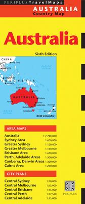 Australia Travel Map - Periplus Editions