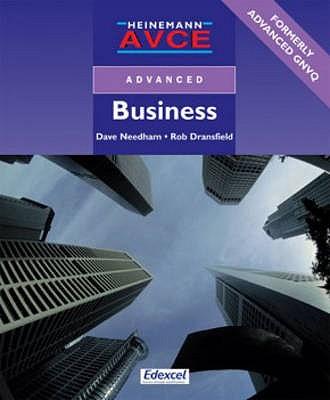 AVCE Business Student Book - Needham, David, and Dransfield, Robert