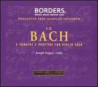 Bach: 6 Sonatas & Partitas for Violin Solo [Exclusive Free Sampler Included] - Akira Eguchi (piano); Albert Linder (horn); Alfred Brendel (piano); Alfred Deller (counter tenor); Alfred Deller (vocals);...