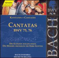 Bach: Cantatas, BWV 75, 76 - Adalbert Kraus (tenor); Aldo Baldin (tenor); Arleen Augér (soprano); Hanns-Friedrich Kunz (bass); Helen Watts (alto);...