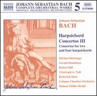 Bach: Harpsichord Concertos 3 - Christine Pichlmeir (violin); Christoph Anselm Noll (harpsichord); Corinne Chapelle (violin); Gerald Hambitzer (harpsichord);...
