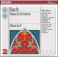 Bach: Mass in B minor; Mass in F - Agnes Giebel (soprano); Eduard Melkus (violin); Gisela Litz (contralto); Hans Braun (bass); Hermann Prey (baritone); Hertha Töpper (soprano); Kim Borg (bass); Leonard Hokanson (organ); Leonard Hokanson (harpsichord); Lois Marshall (soprano)