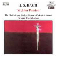 Bach: St. John Passion - Alexandra Bellamy (oboe); Christine Garratt (flute); Colin Baldy (bass); David Watkin (cello); Eamonn Dougan (bass);...