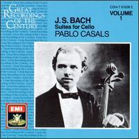 Bach: Suites for Cello, Vol. 1 - Pablo Casals (cello)