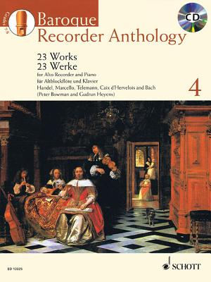 Baroque Recorder Anthology, Vol. 4: 23 Works for Alto Recorder and Piano with a CD of Performances and Backing Tracks - Hal Leonard Corp (Creator)