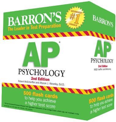 Barron's AP Psychology Flash Cards, 2nd Edition - McEntarffer, Robert, and Weseley, Allyson J