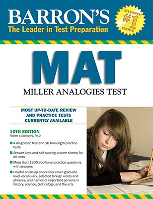 Barron's MAT: Miller Analogies Test - Sternberg, Robert, and Sternberg, Karin