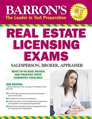 Barron's Real Estate Licensing Exams: Salesperson, Broker, Appraiser - Lindeman, J Bruce, and Friedman, Jack P