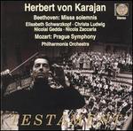 Beethoven: Missa solemnis; Mozart: Prague Symphony