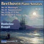 Beethoven: Piano Sonatas No. 14 'Moonlight', No. 23 'Appassionata', No. 13 Op. 27 E flat, No. 25 Op. 79 G major
