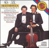 Beethoven: Sonata No. 4, Op. 102, No. 1; 12 Variaions, Op. 66; 7 Variations, WoO 46; 12 Variations, WoO 45 - Emanuel Ax (piano); Yo-Yo Ma (cello)