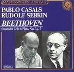 Beethoven: Sonatas for Cello & Piano Nos. 3, 4, 5