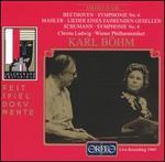 Beethoven: Symphonie No. 4; Mahler: Lieder eines fahrenden Gesellen; Schumann: Symphonie No. 4