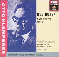 Beethoven: Symphonie No. 9 - Aase Nordmo L�vberg (soprano); Christa Ludwig (mezzo-soprano); Hans Hotter (bass); Waldemar Kmentt (tenor); Philharmonia Chorus (choir, chorus); Philharmonia Orchestra; Otto Klemperer (conductor)
