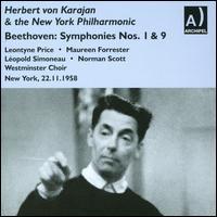 Beethoven: Symphonies Nos. 1, 9 - Leontyne Price (soprano); Léopold Simoneau (tenor); Maureen Forrester (contralto); Norman Scott (bass);...