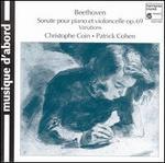 Beethoven: Violoncelle Et Piano