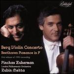 Berg: Violin Concerto; Beethoven: Romance in F