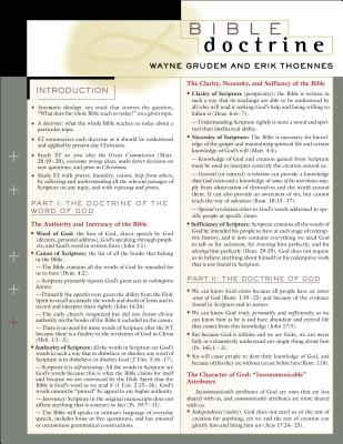 Bible Doctrine Laminated Sheet - Grudem, Wayne A, Mr., M.DIV., and Thoennes, Erik