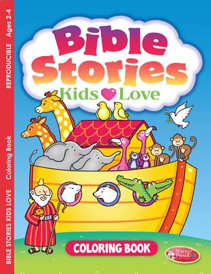 Bible Stories Kids Love: Coloring Book for Ages 2-4 (Pack of 6) - Warner Press (Creator)