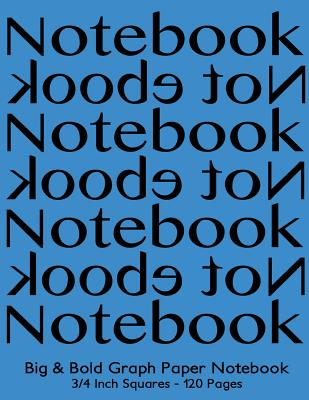 Big & Bold Low Vision Graph Paper Notebook 3/4 Inch Squares - 120 Pages: 8.5x11 Notebook Not eBook, Black on Blue Cover, Bold 5pt Distinct, Thick Lines Offering High Contrast, Ideal for the Visually Impaired for Math, Handwriting, Composition, Notes. - Journals, Spicy
