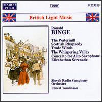 Binge: British Light Music - Kenneth Edge (sax); Sylvia Capova (piano); Slovak Radio Symphony Orchestra; Ernest Tomlinson (conductor)