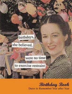 Birthdays, She Believed Birthday Book: Dates to Remember Year After Year (Tainted Ladies) - Anne Taintor