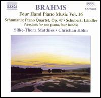 Brahms: Four Hand Piano Music, Vol. 16 - Christian Kohn (piano); Silke-Thora Matthies (piano)